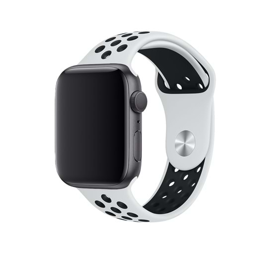 APPLE WATCH SPOR SİLİKON KORDON - BEYAZ - 38/40
